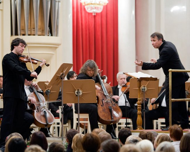 Brahms Double Concerto with Alexander Knyazev  and Mikhail Pletnev